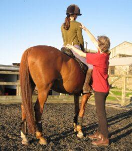 Helyes testtartás lovaglás közben